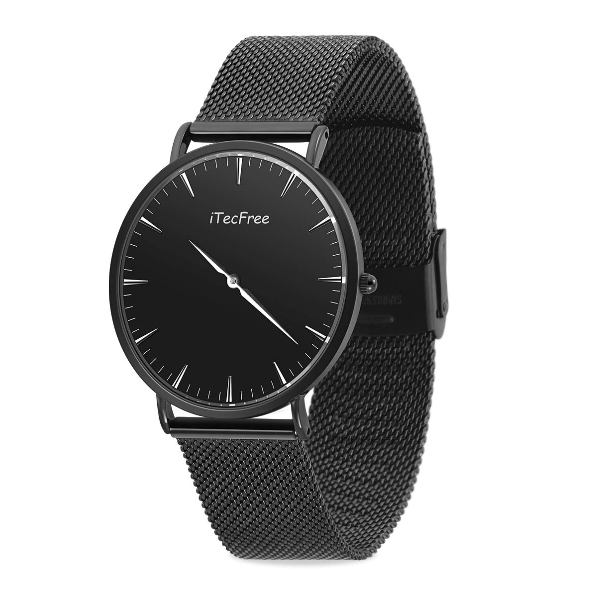Pulsera del Relojes,Reloj de Pulsera Cuarzo Reloj de Pulsera Reloj Hombre Elegante Casuales de Lujo Clásicos de Acero Inoxidable Impermeables para Hombres (Blanco) (Negro)