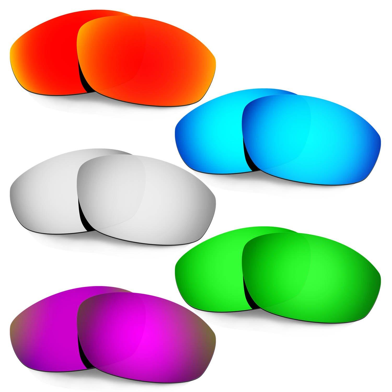 Hkuco 強化する交換用レンズ Oakley Whisker 赤/ブルー/チタン/グリーン/紫色 サングラス TAC 偏光   B07RN6WGM5