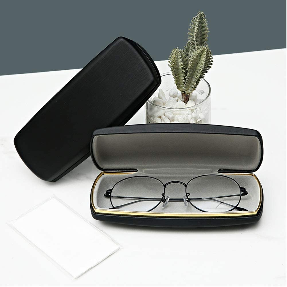 JJZD Eyeglasses Case Travel Shockproof Drop Protection Eyeglasses Case Sunglasses Case Hard Glasees Case Spectacles Protection Cases Man Woman.