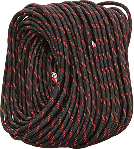 FireCord 100ft Black/Red Line
