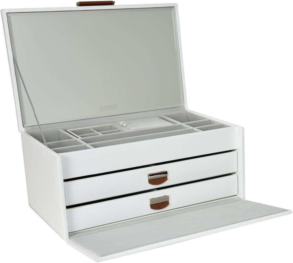 Dulwich Designs Tuscany Bo/îte /à bijoux en cuir rigide Blanc Format L