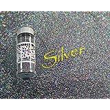 Silver, Extra Fine Holographic Glitter 1/128, 4oz Shaker Bottle