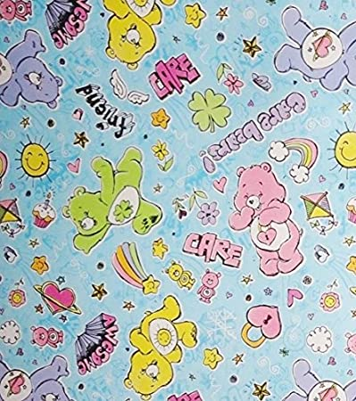 Care Bears Wrapping Paper Gift Wrap 2.5 Feet Wide X 2.6 Yards (20 Square Feet