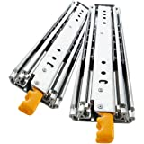 YENUO Heavy Duty Drawer Slides 22 Inch with Lock, Full Extension Ball Bearing, 500 lb Load Capacity, 1 Pair (56 inch (1400mm)