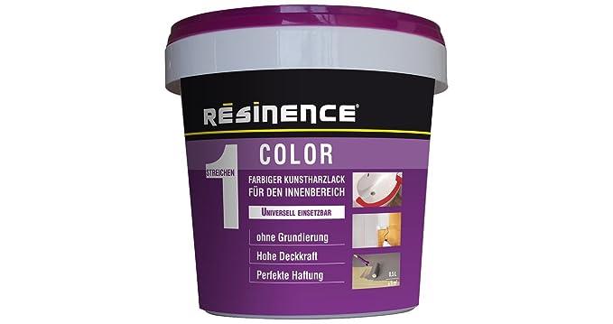 Resinence Color Résine époxy De Couleur Bi Matière   Vernis Satiné Pour  Lu0027intérieur, 0,25 L, Rouge: Amazon.fr: Bricolage