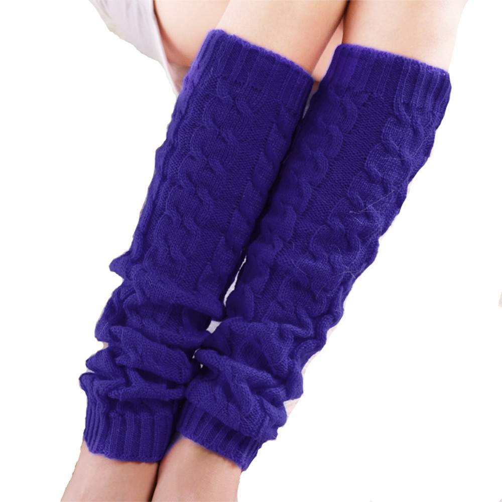 FINEJO Women's Winter Crochet Knitted Boot Cover Leg Warmers Legging Sock SV000207_C