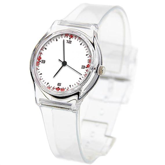 Reloj de pulsera transparente con correa de verano, para mujeres, niños, profesores,