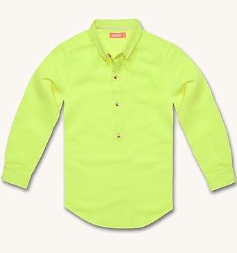 Sunuva niños neón Sherbert Camisa de Lino Amarillo Amarillo ...