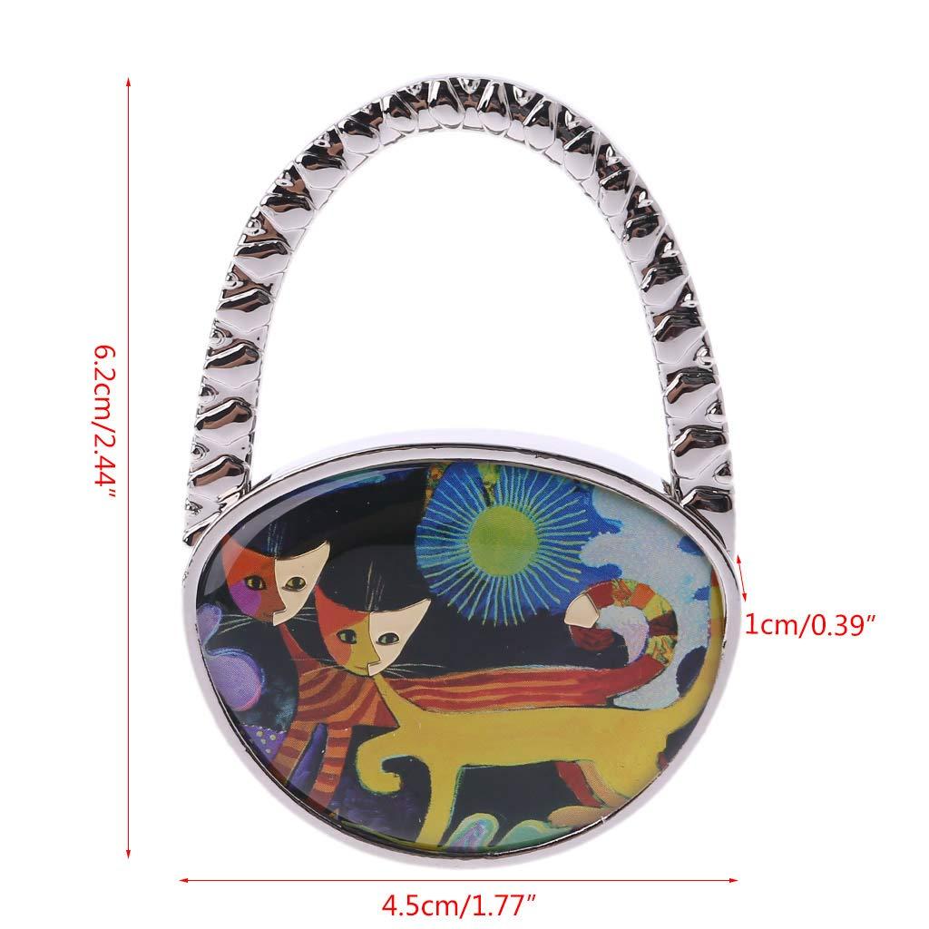 UJuly Mini Purse Holder Handbag Hanger Cute Cat Pattern 4.5x6.2x1cm//1.77x2.44x0.39in
