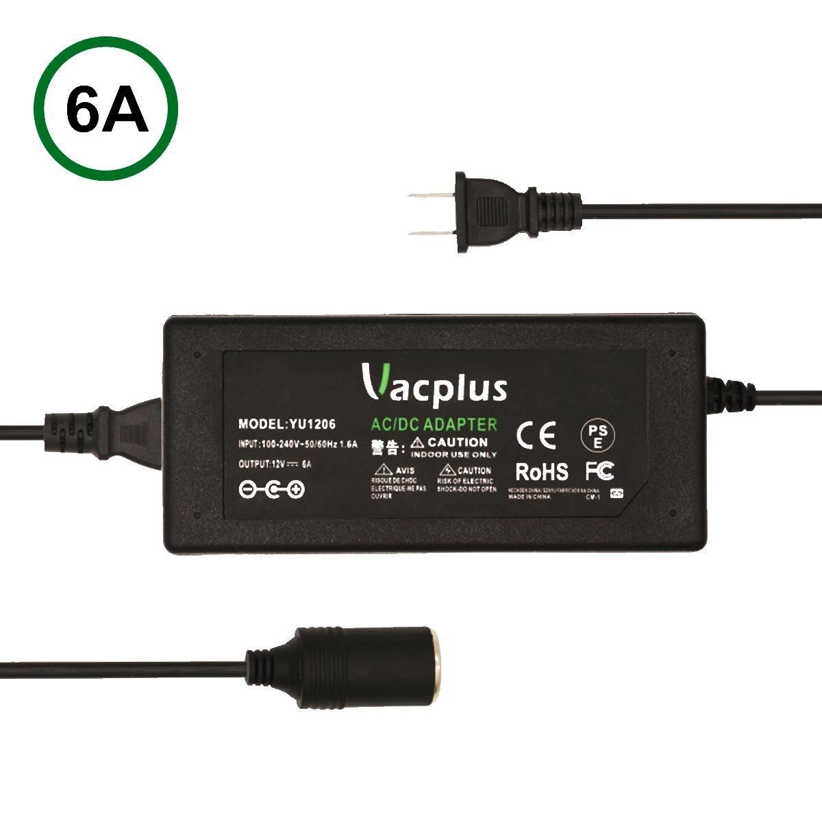 Amazon.com: AC to DC Converter, Vacplus 6A 72W 110V to 12V AC/DC ...
