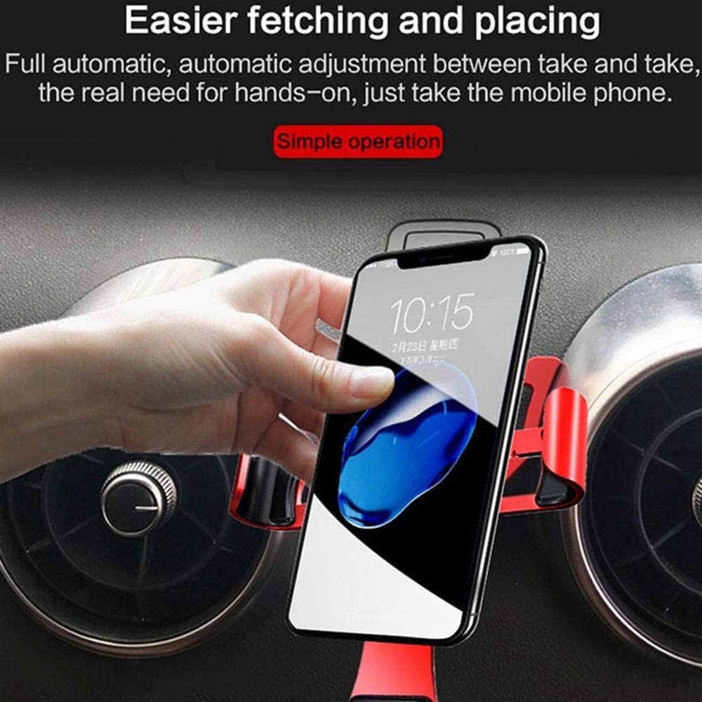 Car Phone Holder Air Vent Mount for Audi A3 S3 2014-2019 Compatible with iPhone XR//XS Max//XS//X//8//8 Plus//7//7 Plus,Galaxy S10//S10 Plus//S9//Note Womdee Phone Mount for Audi A3