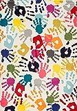 nuLOOM Handprint Collage Kids Nursery Area