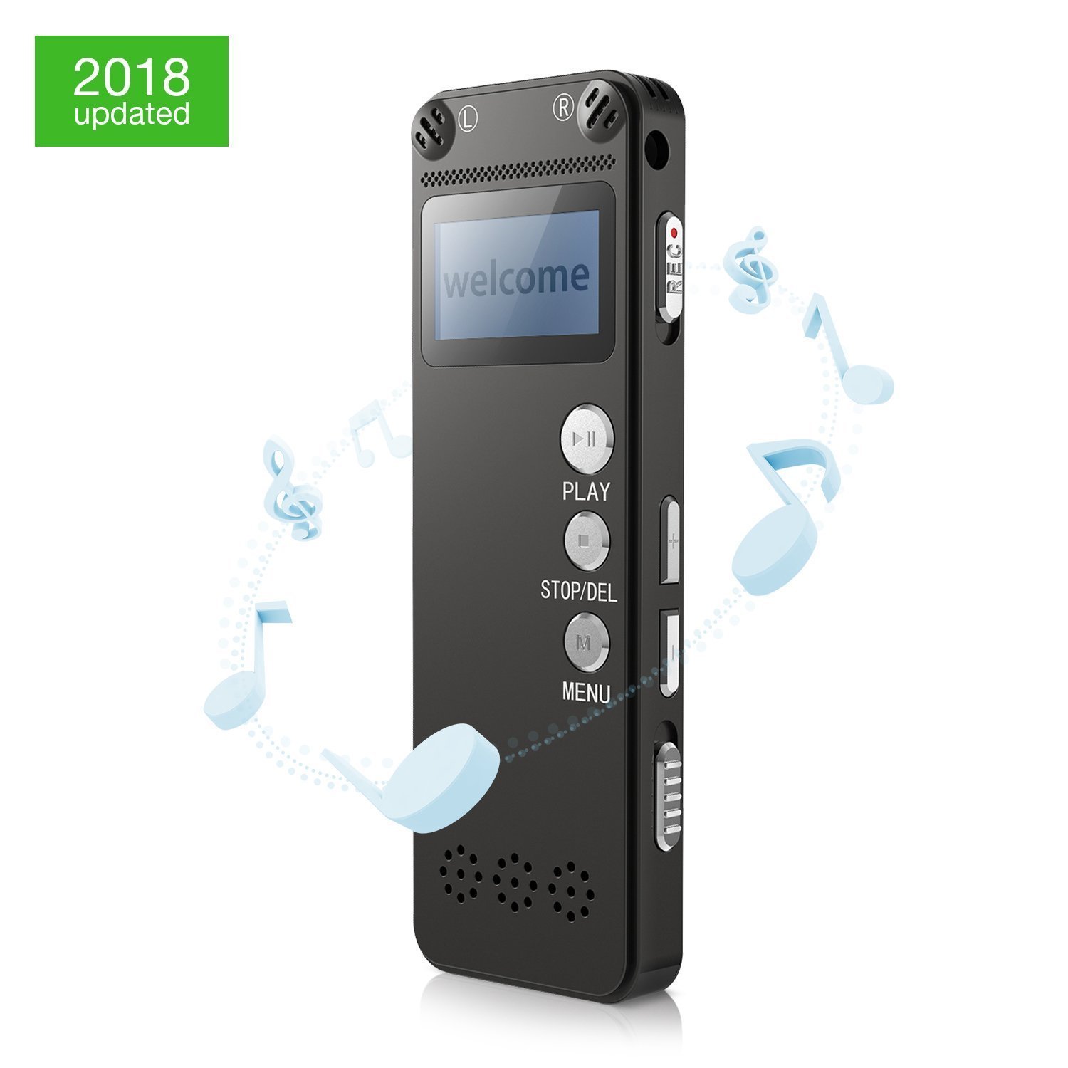 Voice Recorder, Digital Voice Activated Recorder, Noise Reduction Multifunctional Dictaphone, Long Tape Duration Recording with HD Microphones, One Button Operation for Lectures and Meeting