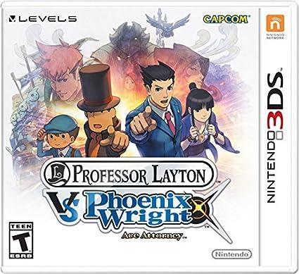 Nintendo Professor Layton Vs. Phoenix Wright: Ace Attorney, 3DS - Juego (3DS, Nintendo 3DS, Rompecabezas, Level-5 & Capcom, 28/03/2014, T (Teen), Inglés): Amazon.es: Videojuegos