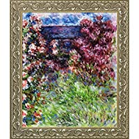 La Pastiche The House Among The Roses, 1925 with Gold Luminoso Framed Oil Painting, 27