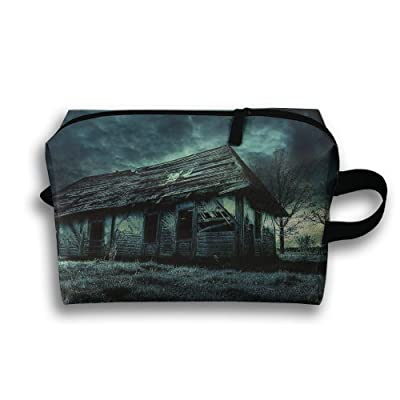 30722f29257f Travel Bag Thatched Cottage Cosmetic Bags Brush Pouch Portable ...