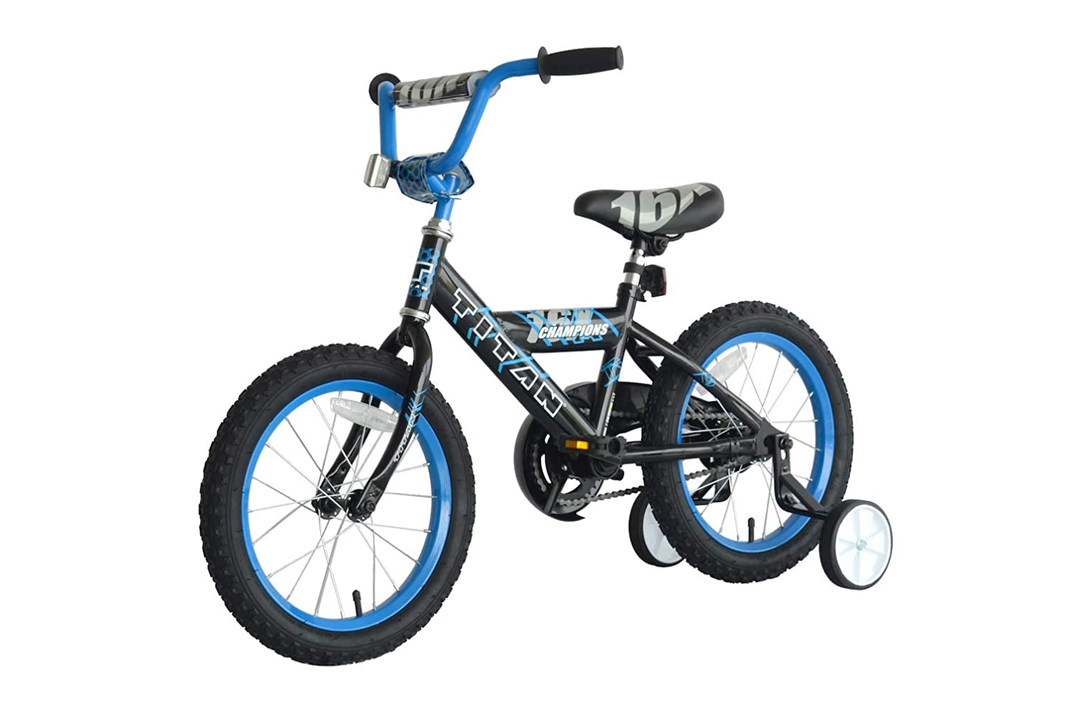 "Training Wheels Included Titan Champion Deluxe Boys BMX Bike with 16/"" Wheels"