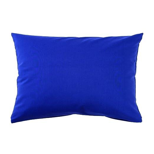 Funda de cojín 40 x 60 cm Uni Pure Linón de Algodón con cremallera cierre disponible en una gama de colores, algodón, blau royal / kobalt, 40 x 60 cm