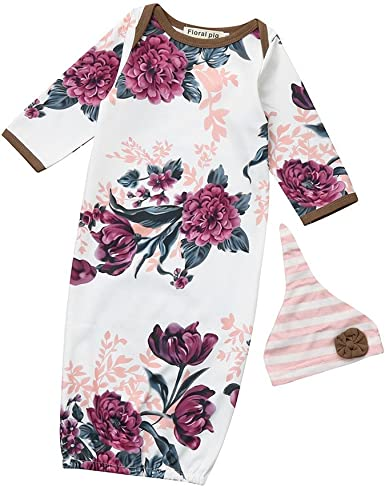 Hstore Baby Boys Girls Romper Long Sleeve Casual Loose Flower Print Jumpsuit Clothes HOT