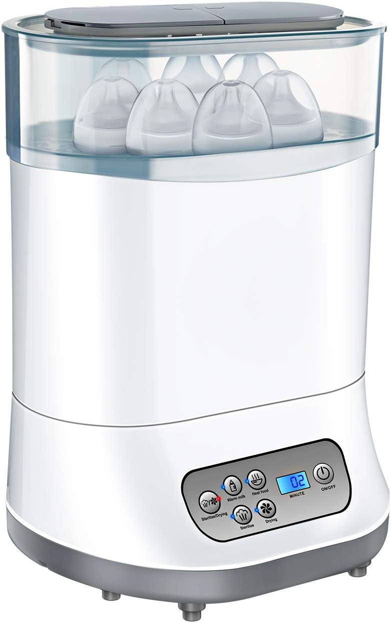 OMORC Esterilizador de Biberones, 5 en 1 Desinfecta/Seca hasta 6 ...