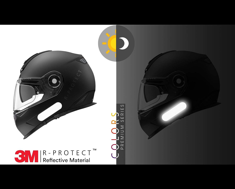 Jaune Kit 6 Bandes Stickers Autocollants r/étro r/éfl/échissants pour Casque Moto Premium Series R-Protect Colors /™ Technologie 3M Scotchlite/™