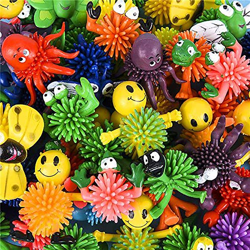 "(2"" Assorted Mini Spiky Character Balls – 50 Pieces, Easter Basket Fillers, Piñata, Stocking Stuffers, Teacher Goodies, Gift Ideas, Novelty, Sensory Toy, Merchandise, Game Prizes, Collectibles, Rewards)"