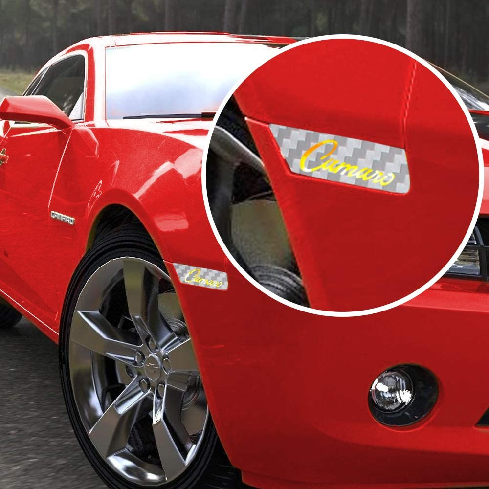 IPG for 2010-2015 Camaro Front /& Rear Side Marker RS Carbon Fiber Vinyl kit 4 Units Set