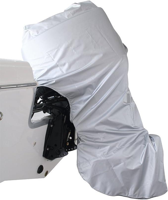 Wakects Motorbooth/ülle Boot Schutz Plane Abdeckung Persenning Haube H/ülle Bootsabdeckung Polyester 427-488cm x 173cm L x B