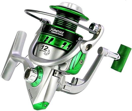 12BB rodamientos de Bolas Spinning Carrete de Pesca GL 5.5:1 ...