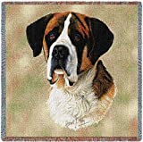 Pure Country 1133-LS Saint Bernard Pet Blanket, Canine on Beige Background, 54 by 54-Inch