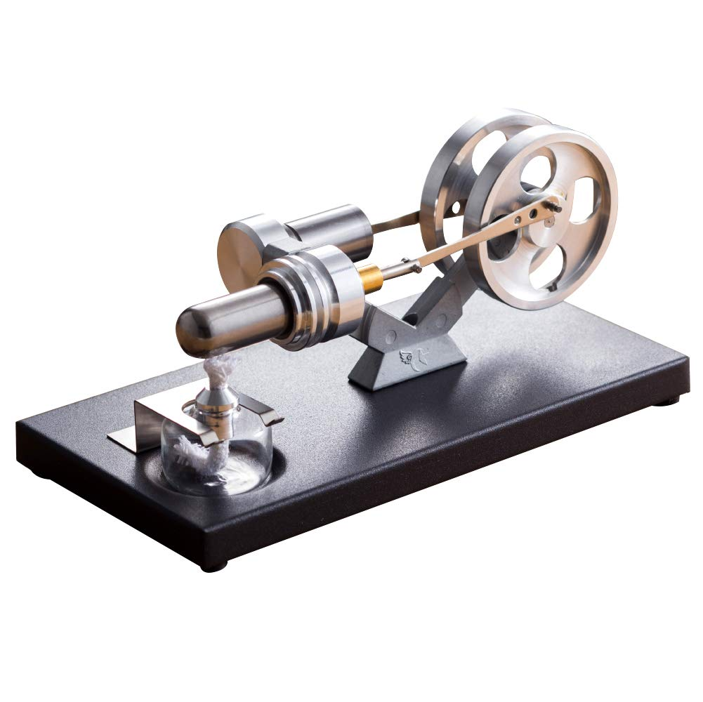 At27clekca Hot Air Power Stirling Engine Motor Model Science Educational Toy Electricity Generator