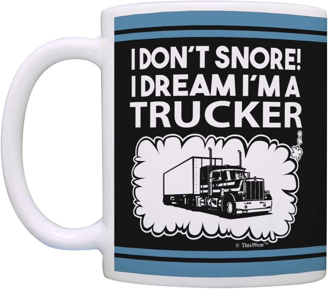 I Dont Snore I Dream Tractor Work Job Humour Magic NOVELTY MUG Funny Mugs