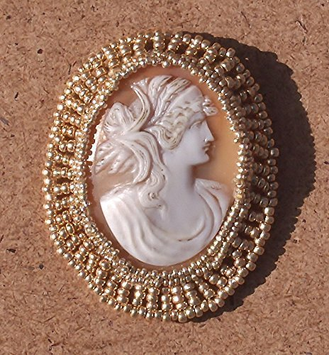 SALE Antique Hand Carved Shell Cameo Pendant Brooch Ceres, Demeter,The Goddess of the Harvest, Fertility with Wheat Stalks in Her Hair. One of a (Goddess Shell)