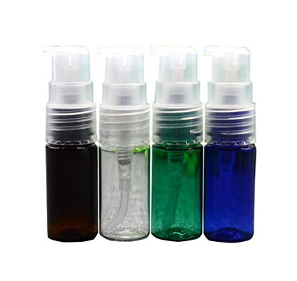 4pcs 10 ml Plástico Bomba Botellas con pipette-refillable pico botellas maquillaje cosméticos crema loción