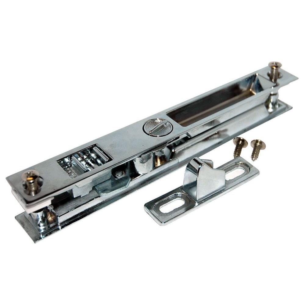 Barton Kramer Patio Door Lock 6-5/8'' Chrome Glass