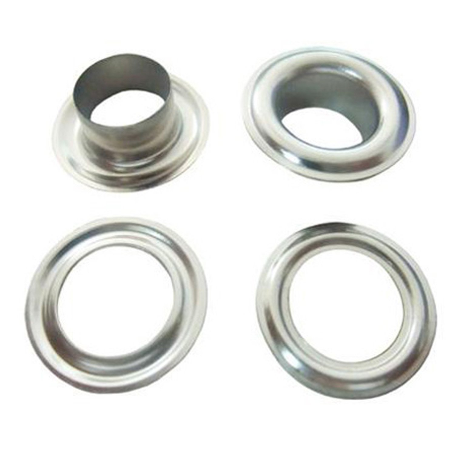 Trimming Shop Gold Eyelets Grommet with Three Set Hand Tool for Tarpaulins Fabric Tent Vinyl Banner 50 x 12.5mm