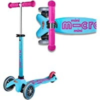 Micro Mini Deluxe 3 Wheeled Scooter Turquoise Pink Tilt And Lean 2-5 Years Toddler Children's Lean And Steer
