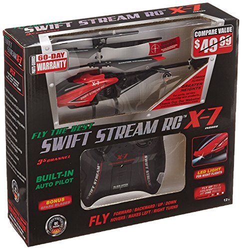 Swift Stream X-7 Helicopter, Red