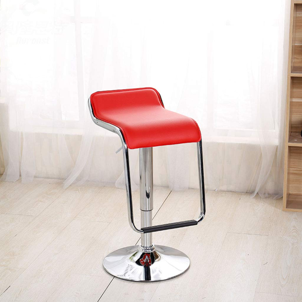 Red NJ STOOLS- Bar Chair Lift Front bar Chair redating bar Stool Cash Register Chair Home high Chair (color   RED)