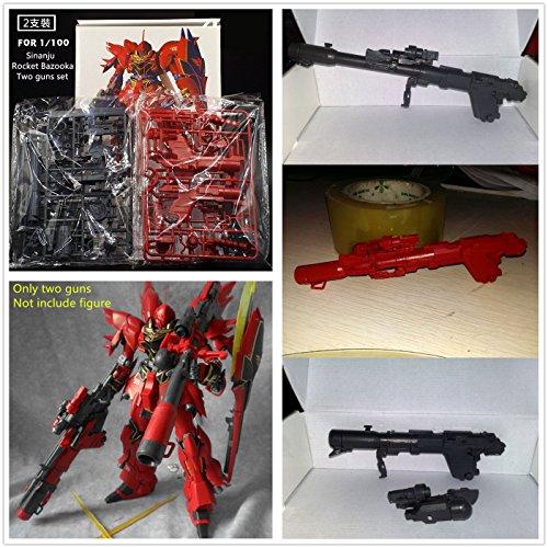 GG DX Hobby Rocket Bazooka for Bandai MG 1/100 MSN-06S Gundam Sinanju 2 guns set