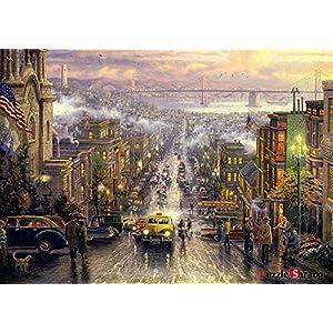 Puzzle Vita Romantica Street Sanfrancisco Thomas Kinkade Puzzle Da 500 Pezzi In Dotazione