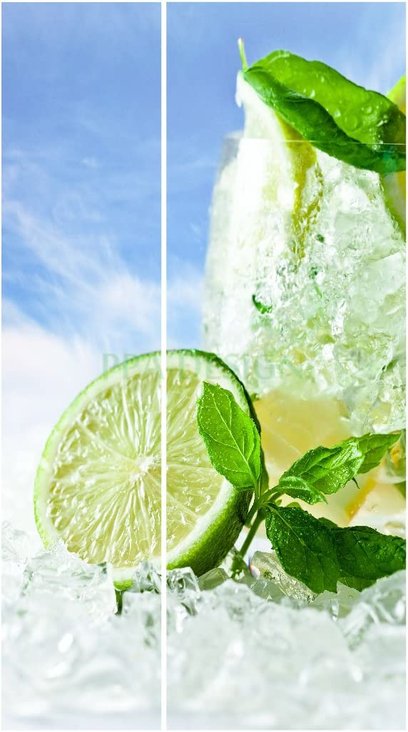 Sticker Frigo Americain Cuisine 100x180cm SAFRA0102 Citron vert