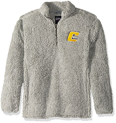 Zip Moc - NCAA Tennessee Chattanooga Mocs Adult Men Owen 1/4 Zip Heather Sherpa Pullover, X-Small, Quarry