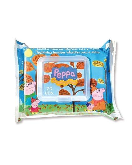 Peppa Pig - 8410800061606 - Toallitas Húmedas Cara y Manos Peppa Pig 20 uds