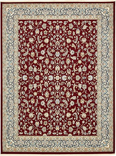 Unique Loom Narenj Collection Classic Traditional Repeating Pattern Burgundy Area Rug (10' 0 x 13' -