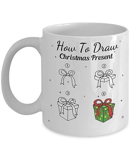 amazon com kiwi styles how to draw christmas present ceramic coffee