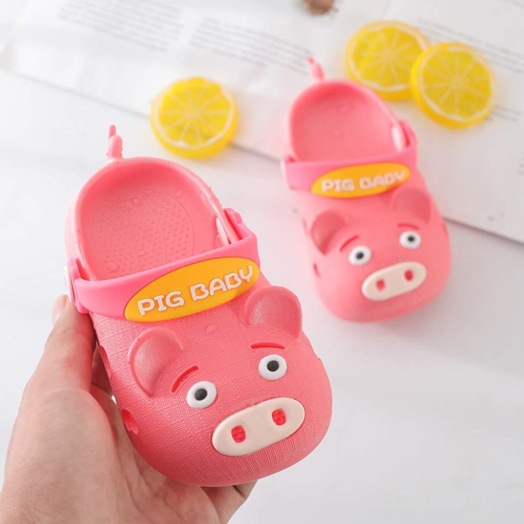 Buoyee Summer Children Baby Boys Girls Pig Cartoon Beach Sandals Slippers Flip Shoes