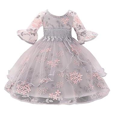 Miyanuby Vestidos Bebe Niña Flores De Bordado Elegantes