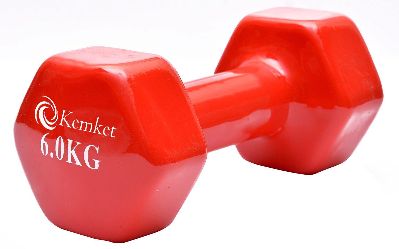 Mancuernas con revestimiento de vinilo (2 unidades) - 0.5 Kg a 6 ...