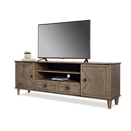 Amazon Com Modern Farmhouse Tv Stand Provides Style And Function